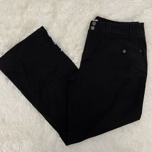 🐘 Fashion Bug Size 16 Black Wide Leg Pants D20P